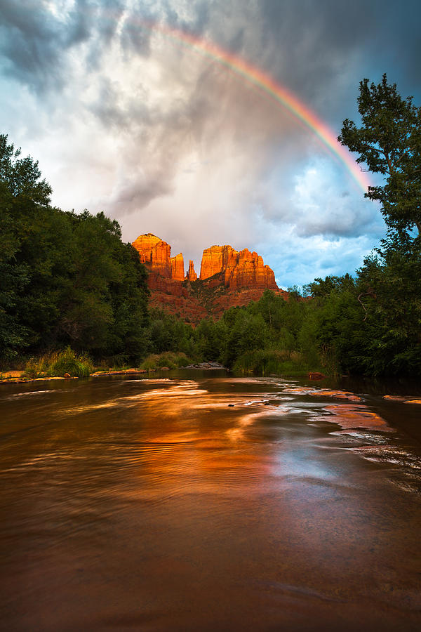 Rainbow Over Sedona Photograph