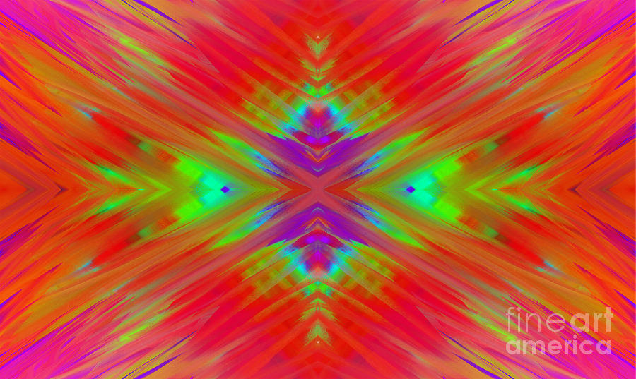 Rainbow Passion - Abstract  Digital Art