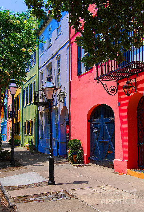 Rainbow Row Charleston Photograph