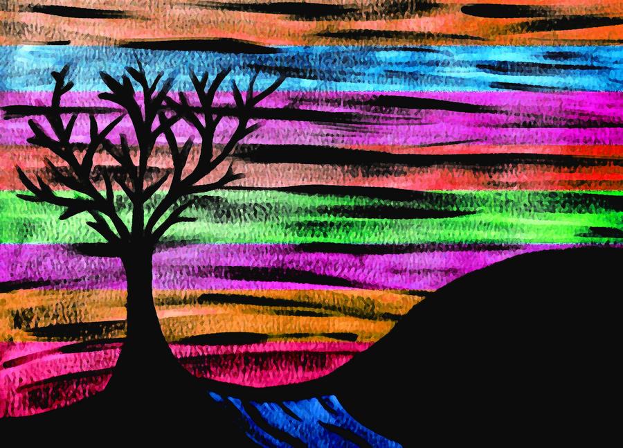 Rainbow Skies Digital Art