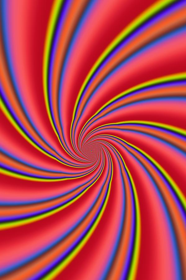Rainbow Swirls Photograph