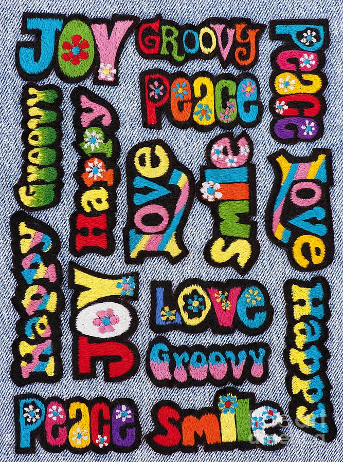 Rainbow Text Photograph
