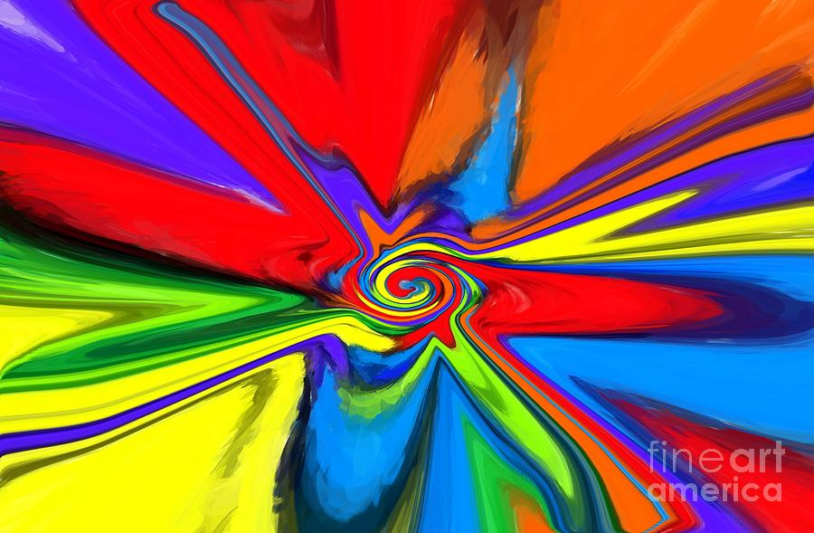 Rainbow Time Warp Digital Art  - Rainbow Time Warp Fine Art Print