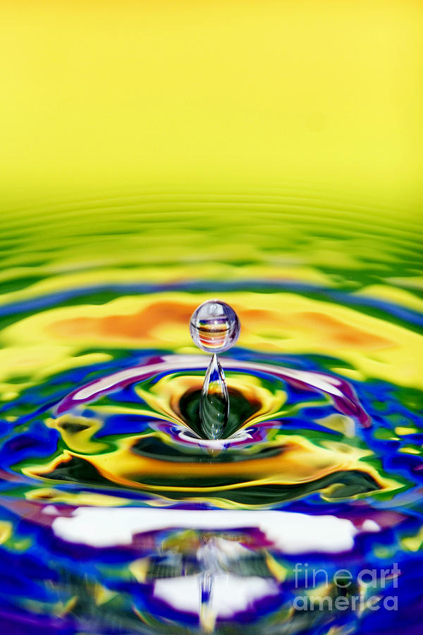 Rainbow Water Drop Photograph  - Rainbow Water Drop Fine Art Print