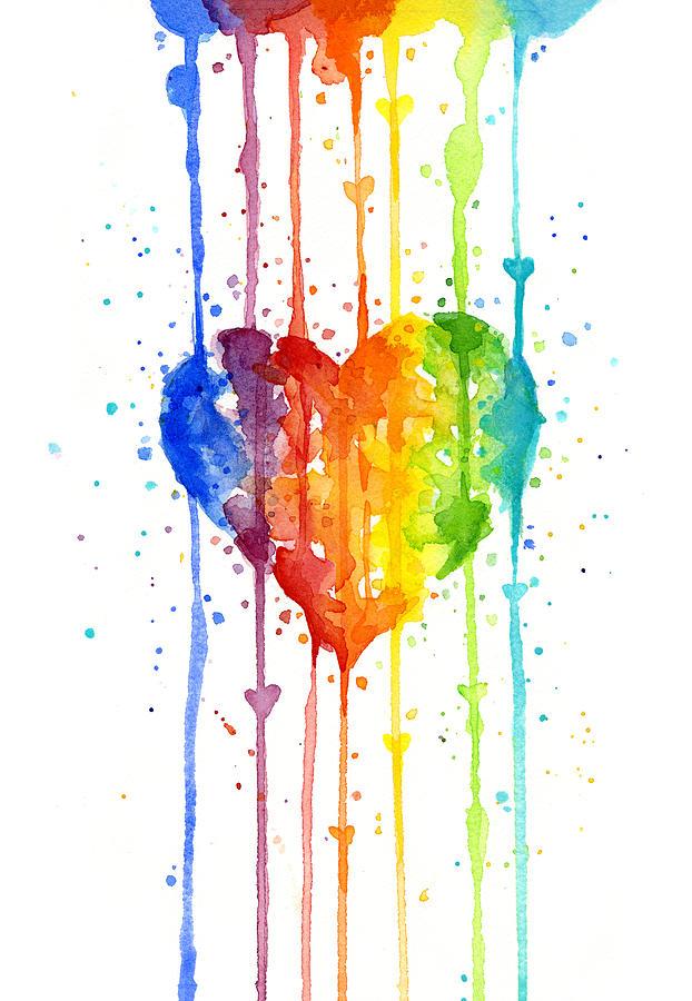 rainbow zebra print heart