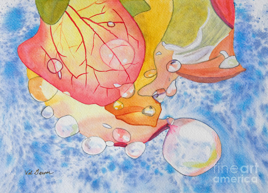 Raindrops On Roses Watercolor Art For Sale Painting
