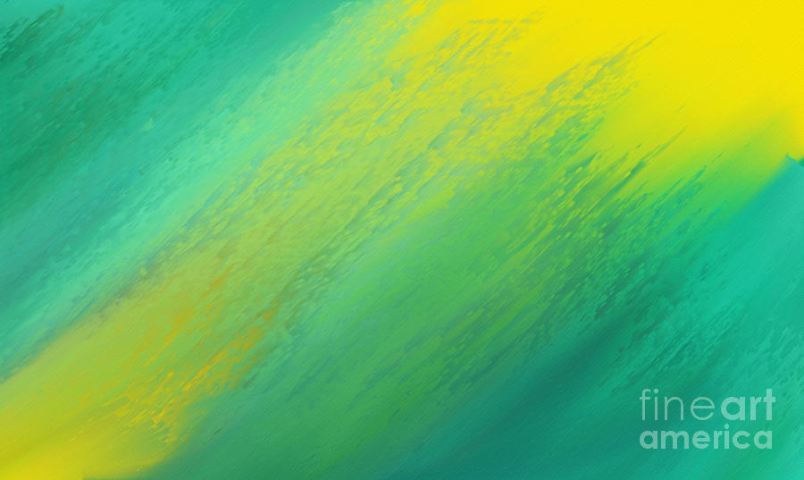 Abstract Digital Art - Raining Sunshine - Meteorologist - Meteorology by Andee Design