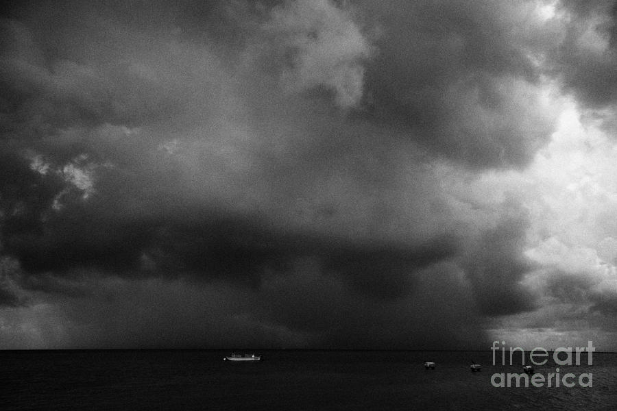 Rainstorm Thunderstorm Storm Clouds Approaching Key West Florida Usa Photograph
