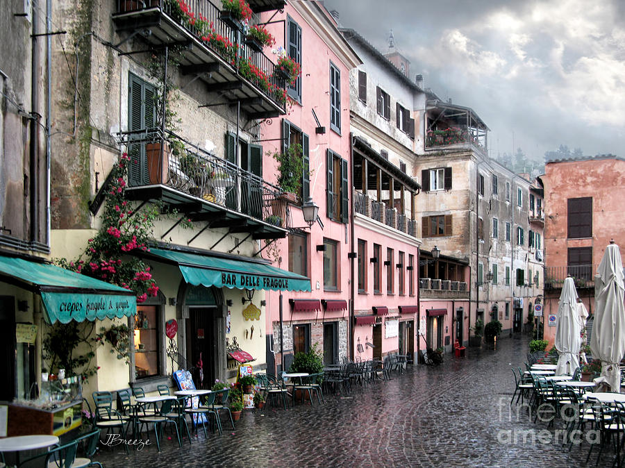 Rainy Day In Nemi. Italy Photograph