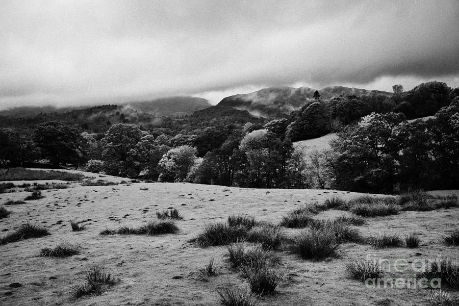 Rainy Day In The Lake District Near Loughrigg Cumbria England Uk Photograph