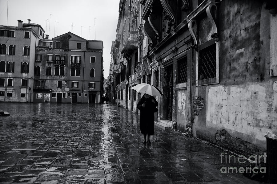 Rainy Day In Venice Photograph