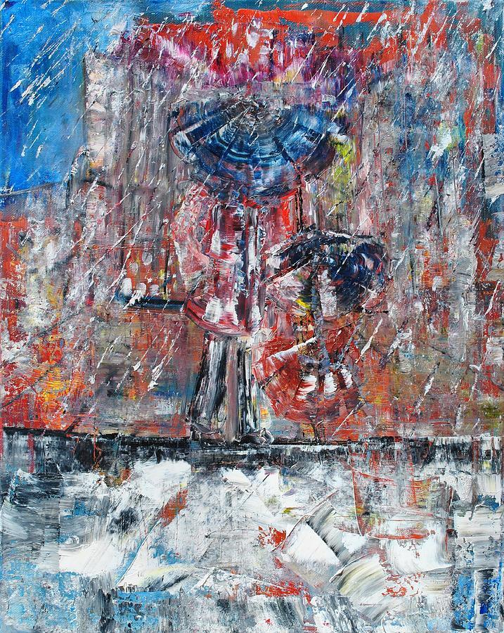 Rain Painting - Rainy by Evelina Popilian