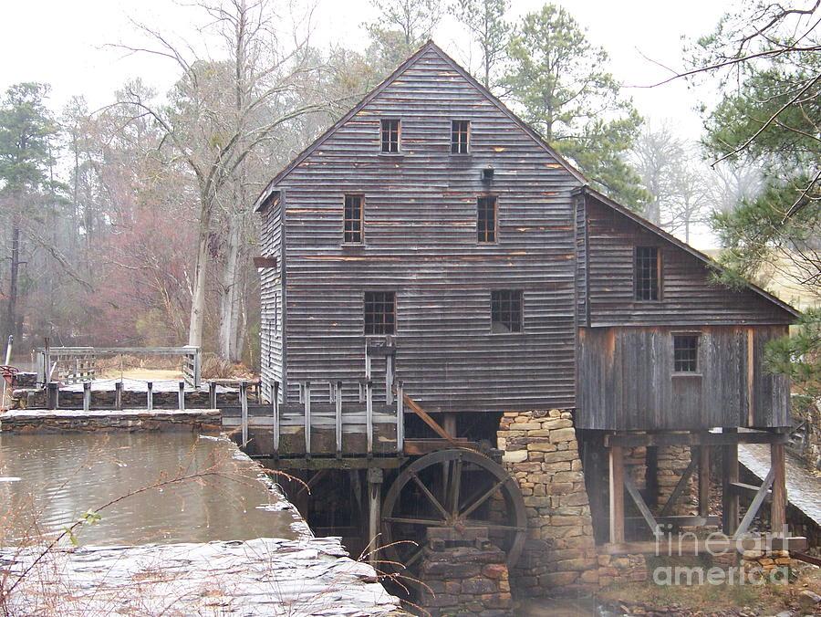 Rainy Yates Mill Photograph