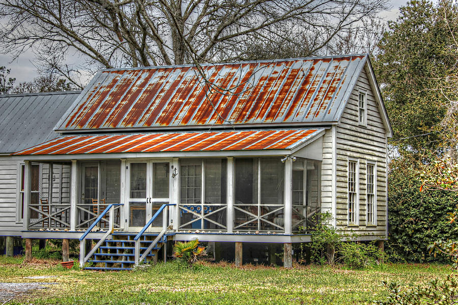 Raised Cottage Photograph - Raised Cottage With Tin Roof by Lynn Jordan