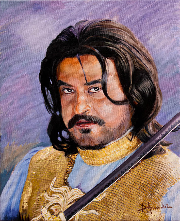 Rajani Kanth Portrait Painting  - Rajani Kanth Portrait Fine Art Print