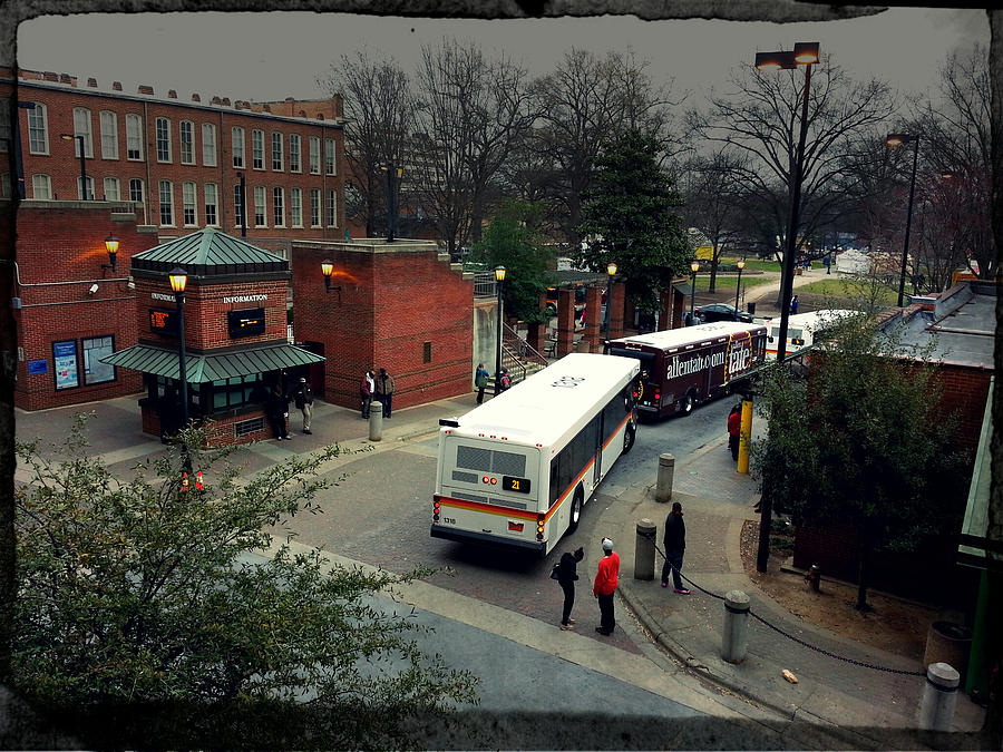 Raleigh Bus Terminal - Evening Photograph  - Raleigh Bus Terminal - Evening Fine Art Print