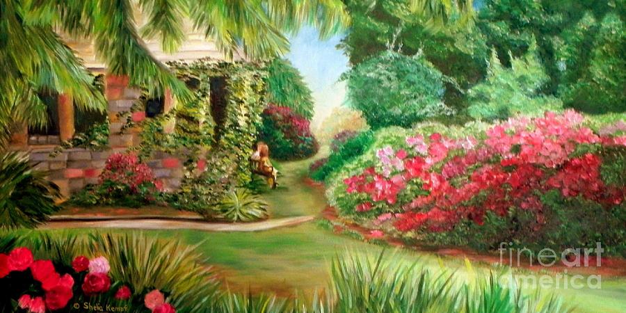 Rose Garden Painting By Shelia Kempf