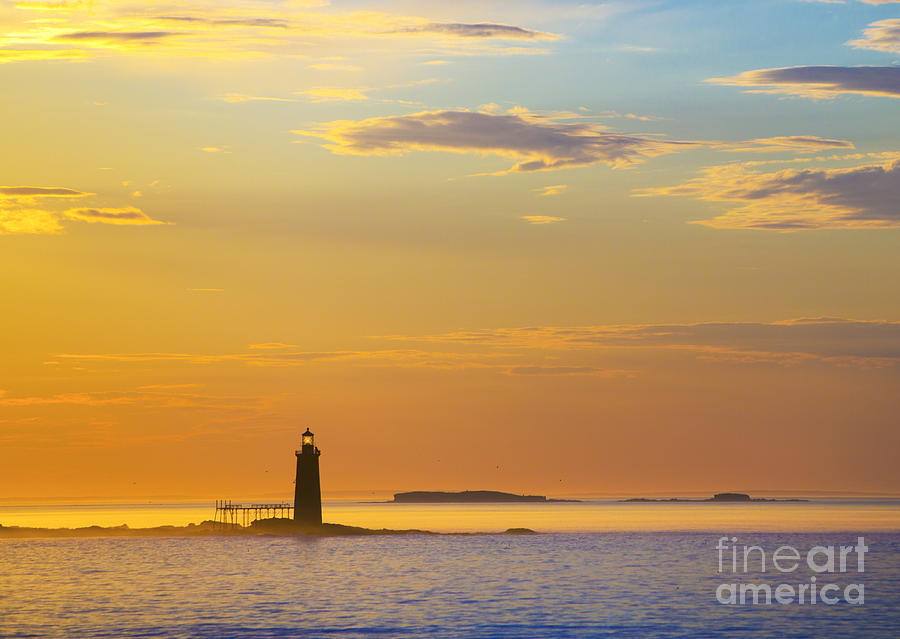 Lighthouse Photograph - Ram Island Lighthouse Casco Bay Maine by Diane Diederich