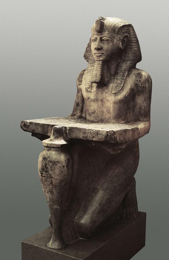 Ramesses II With The Table Of Abydoss Photograph