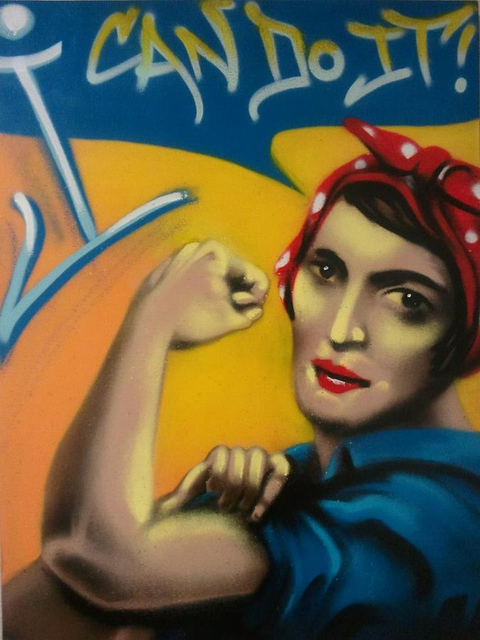 Rand The Riveter Painting