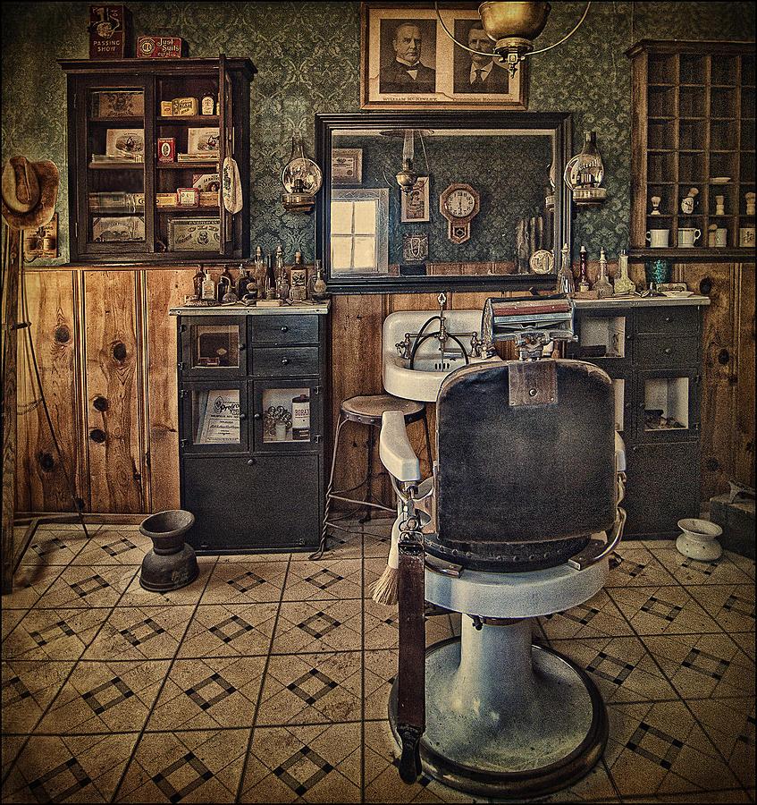 Randsburg barber shop interior photograph by priscilla burgers - Barber shop interior ...