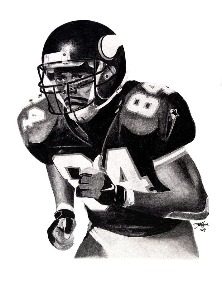 Randy Moss Drawing  - Randy Moss Fine Art Print