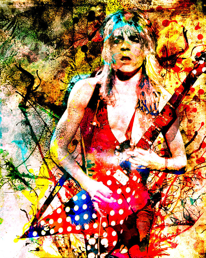 randy rhoads ozzy osbourne painting by ryan rock artist