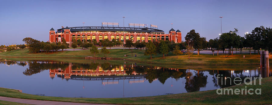 Rangers Ballpark In Arlington At Dusk Photograph  - Rangers Ballpark In Arlington At Dusk Fine Art Print