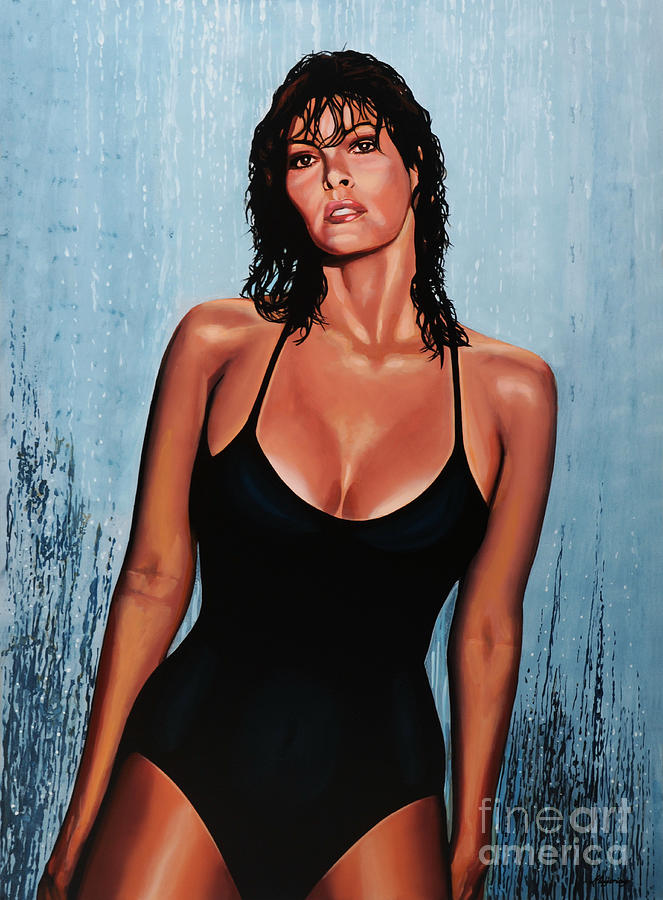 Raquel Welch Painting  - Raquel Welch Fine Art Print