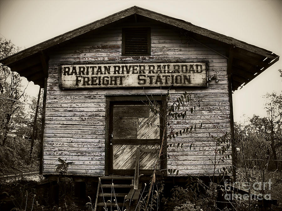 Train Station Photograph - Raritan River Railroad by Colleen Kammerer