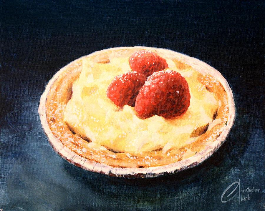 Raspberry Tart Painting