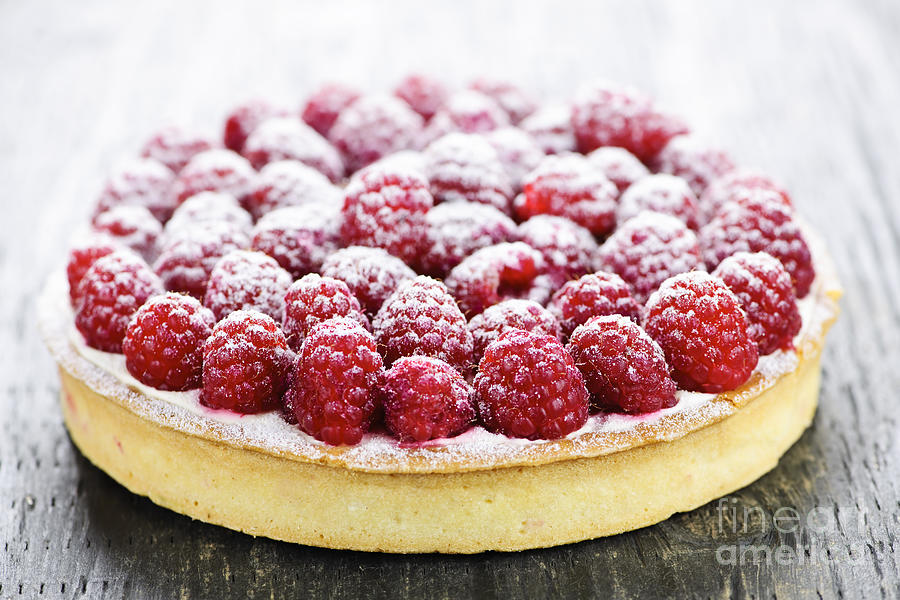Raspberry Tart Photograph