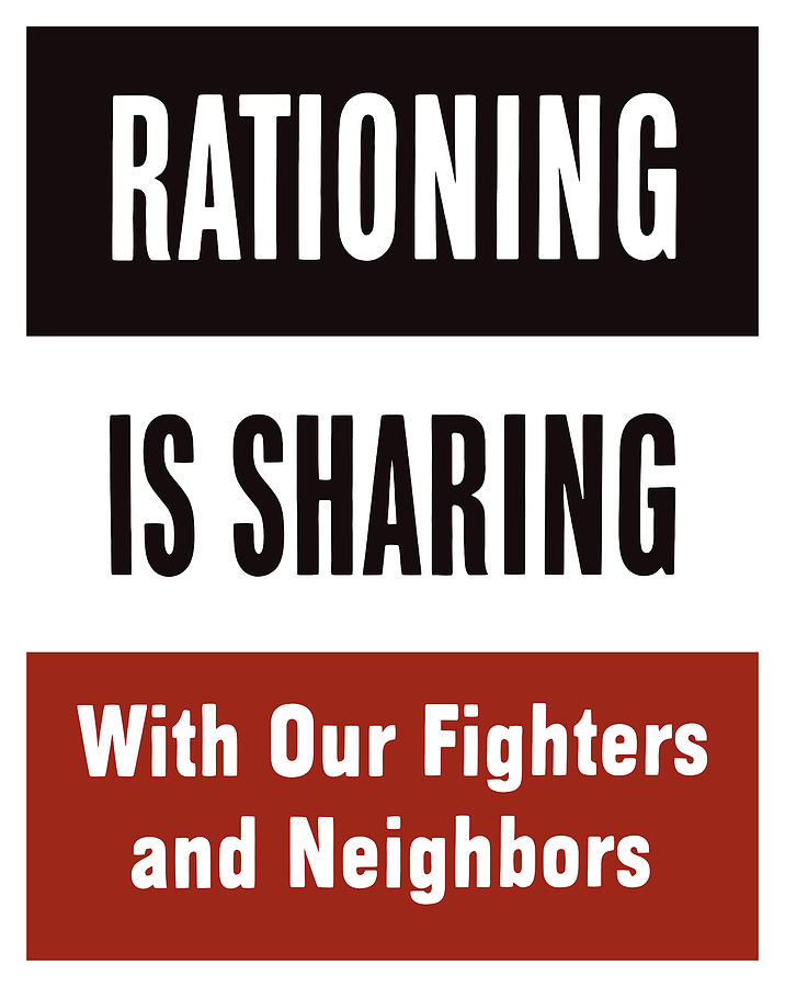 Rationing Is Sharing Mixed Media  - Rationing Is Sharing Fine Art Print