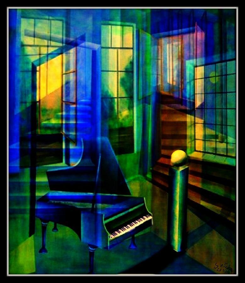 Malerei Painting - Raumirritation 23  by Gertrude Scheffler