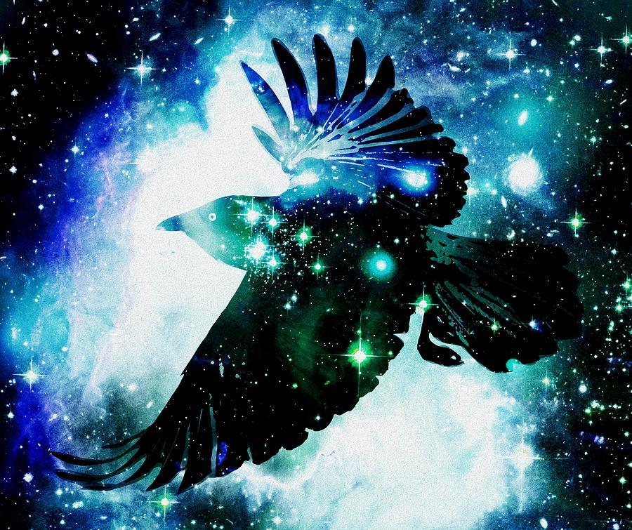 Malakhova Digital Art - Raven by Anastasiya Malakhova
