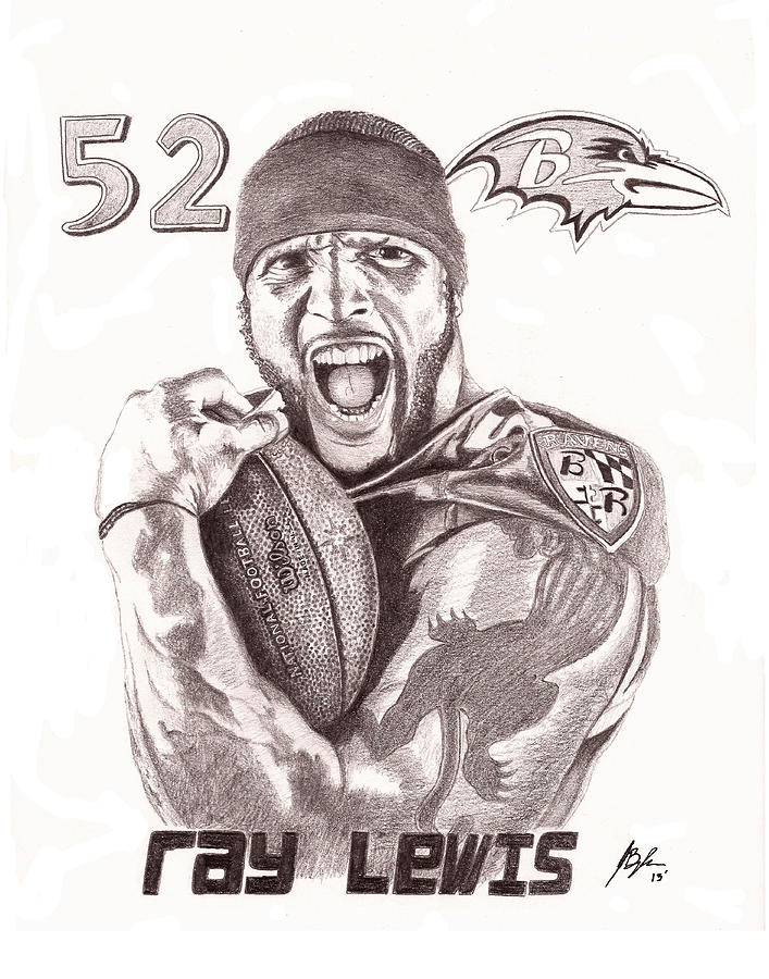 Ray Lewis Drawing