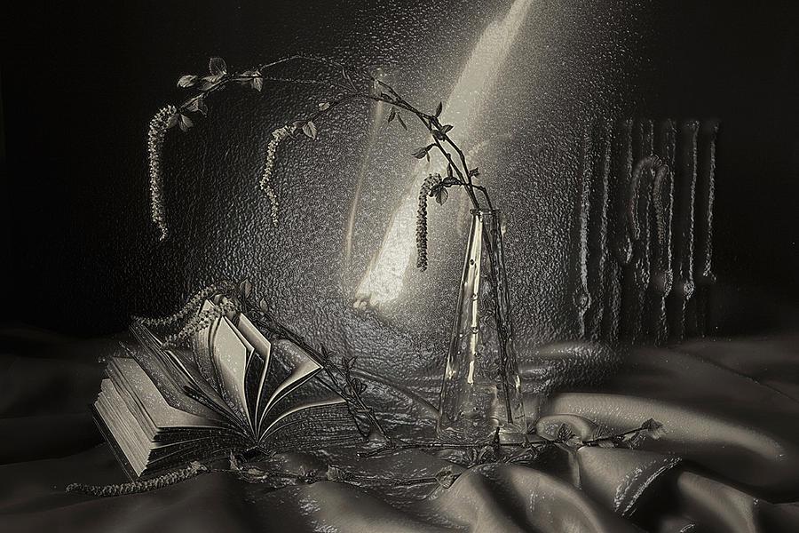 3d BW Still Life art Ray of Light