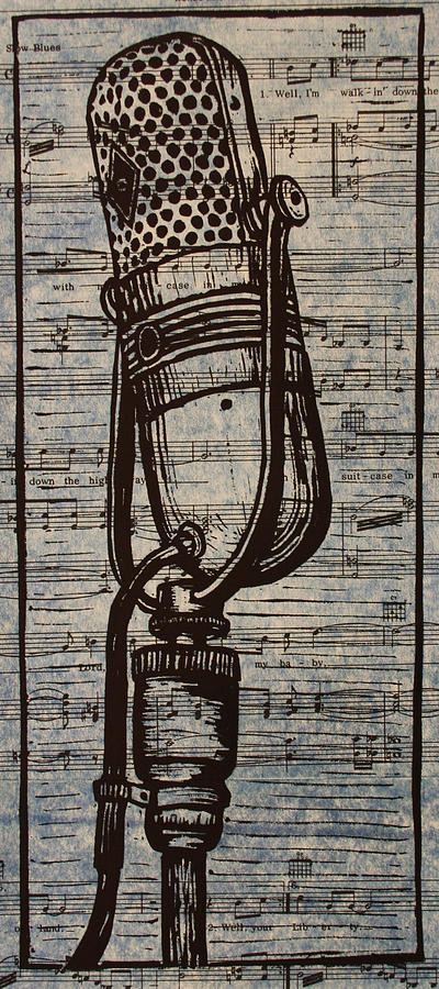Rca 77 On Music Drawing  - Rca 77 On Music Fine Art Print