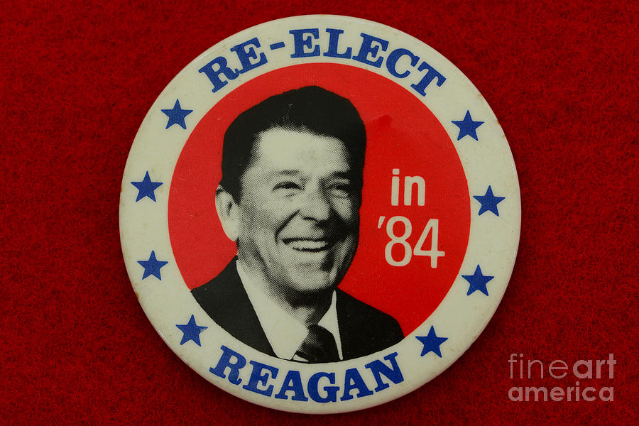 Re-elect Reagan Photograph  - Re-elect Reagan Fine Art Print