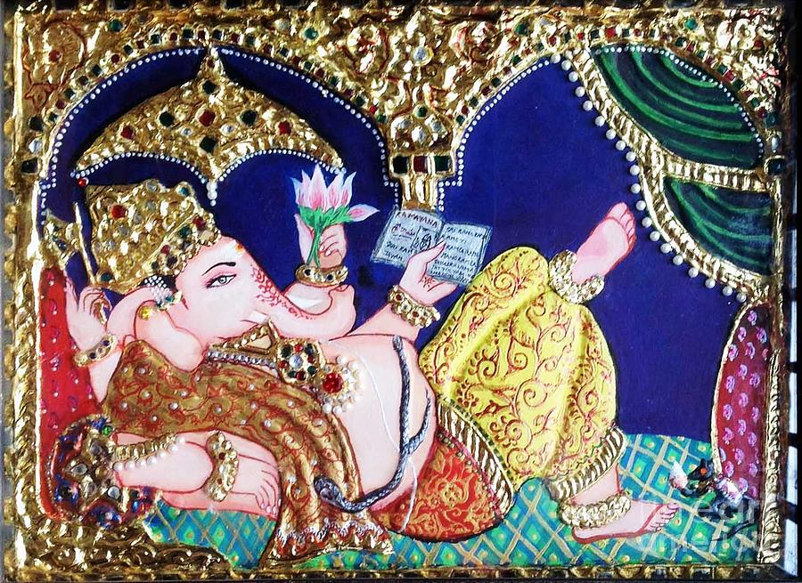 Reading Ganesha Painting