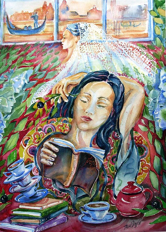 Reading The Prophet By Kahil Gibran  Painting