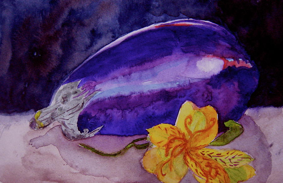 Eggplant Painting - Ready by Beverley Harper Tinsley