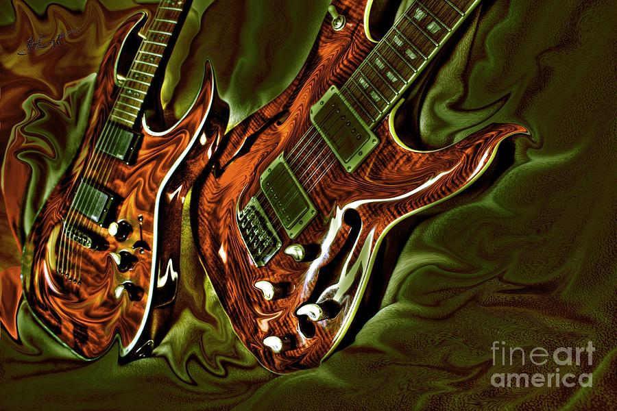Ready To Rock Digital Guitar Art By Steven Langston Photograph  - Ready To Rock Digital Guitar Art By Steven Langston Fine Art Print