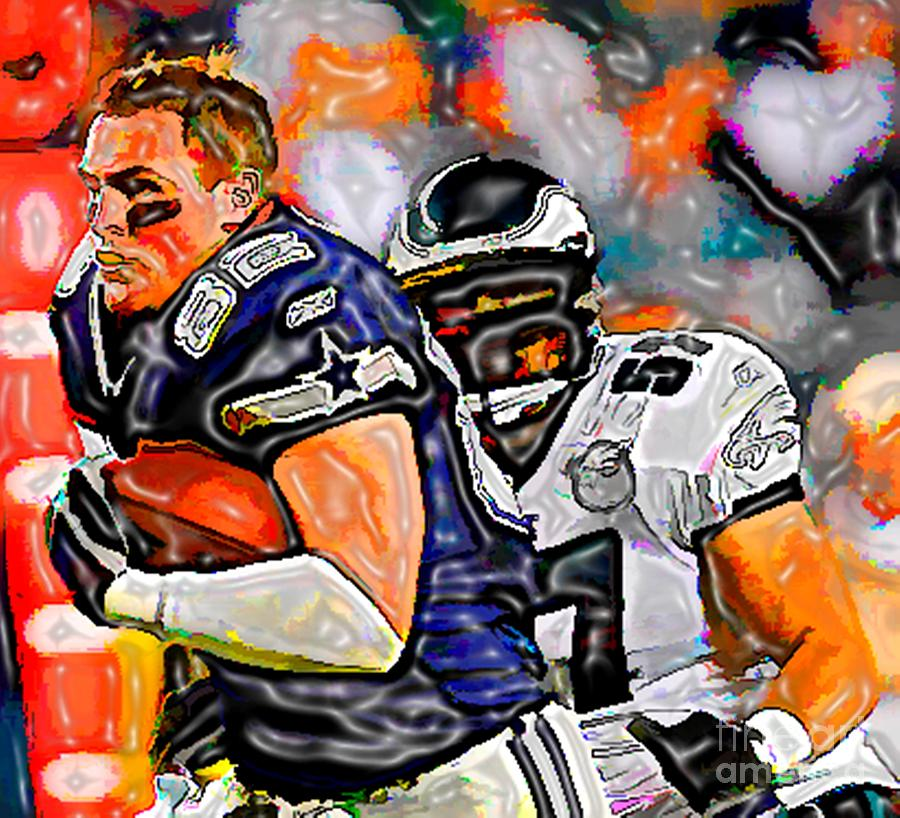 Real Men Play Football Mixed Media