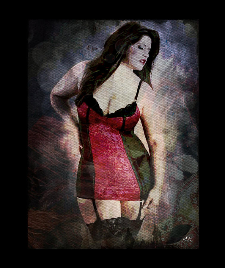 Real Woman Real Curves Digital Art  - Real Woman Real Curves Fine Art Print