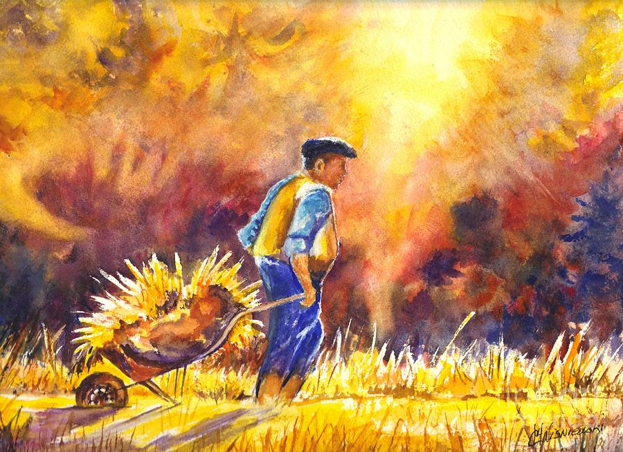 Reaping The Seasons Harvest Painting
