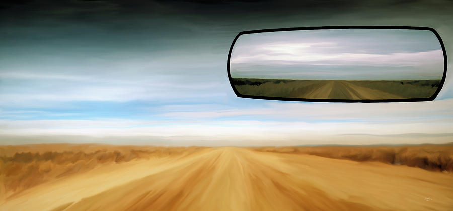 Rear View Mirror Painting by Leland D Howard
