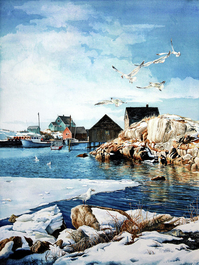 Peggy's Cove Painting Painting - Reason To Believe by Hanne Lore Koehler