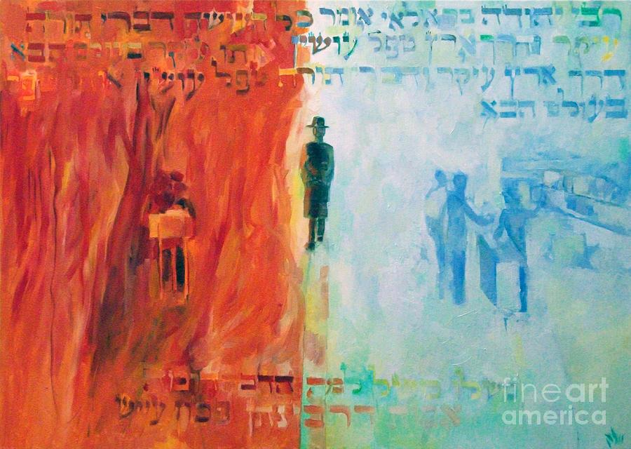 Painting - Rebbe Yehuda Ben Ilyai Said by David Baruch Wolk