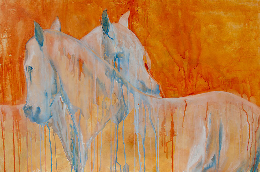 Horse Art Painting - Reciprocity by Jani Freimann